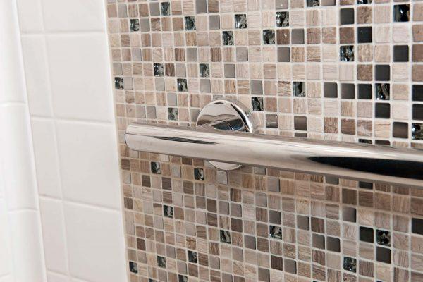 aging in place bathroom design: grab bars