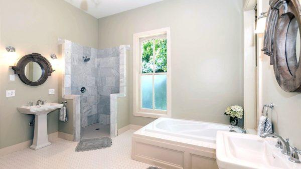 aging in place bathroom design: lighting