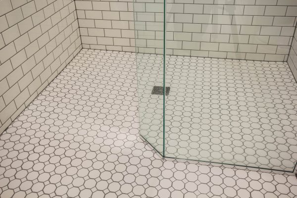 aging in place bathroom design: curbless shower