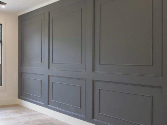 raised panels wood paneling