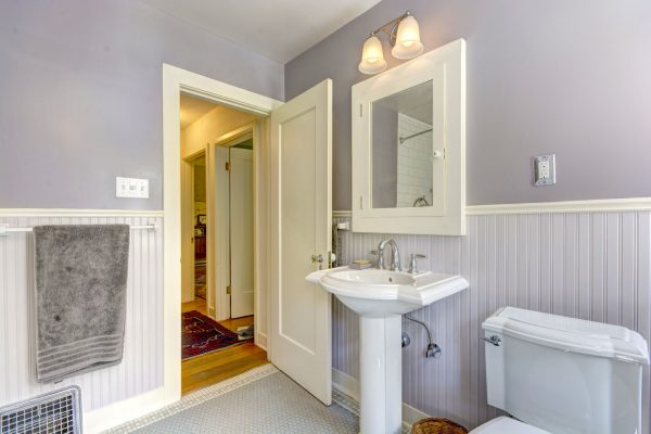 pedestal sink pros and cons: white sink