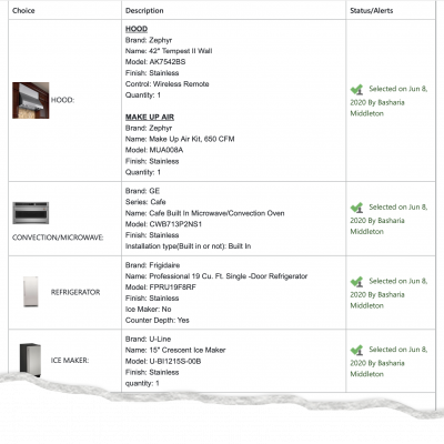 home remodeling contract: product details