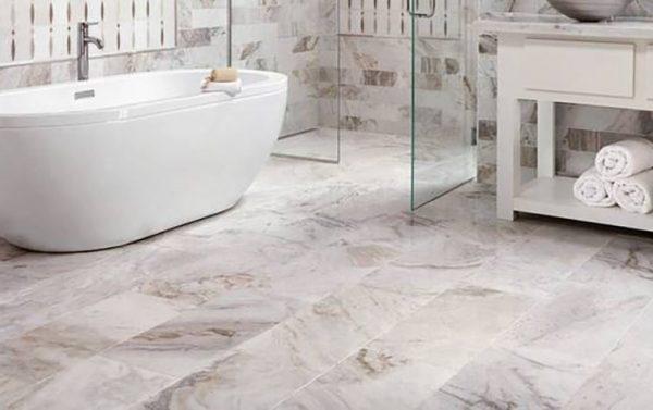 best bathroom flooring - marble