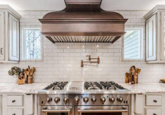 copper kitchen hood