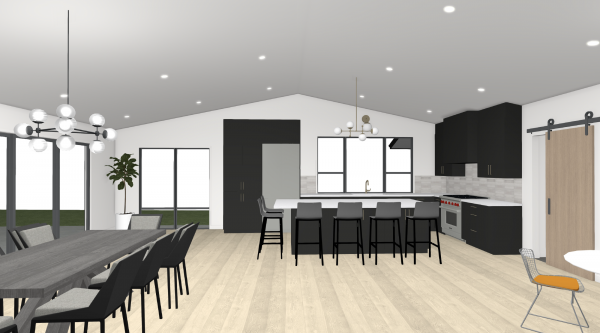 portland home addition: large scale addition with new kitchen