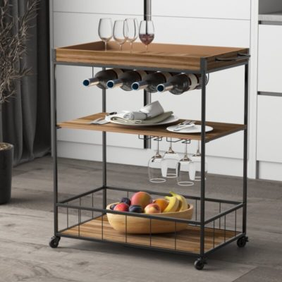 recycled home bar cart